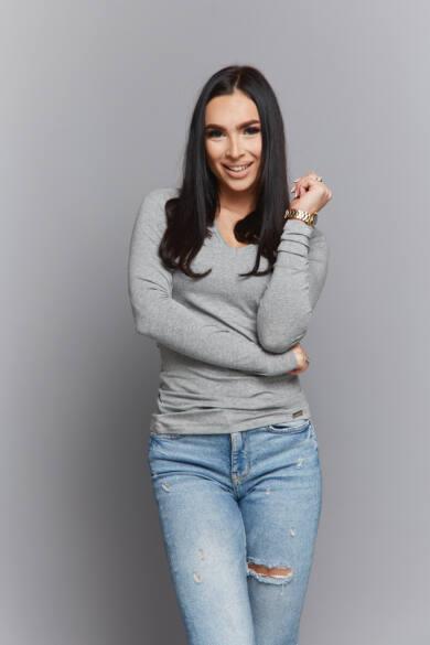 Anna Russo Diána felső-szürke